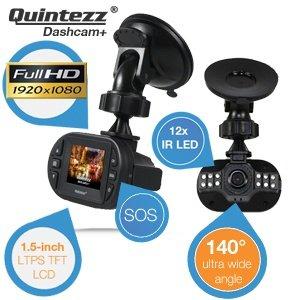 Quintezz Full HD Dashcam+ mit 140° Ultra-Weitwinkel-Objektiv und G-sensor  für 29,95€ zzgl. 5,95€ Versand  @iBOOD