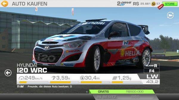 [Real Racing 3] Hyundai I20 WRC im Wert von 10€ umsonst.
