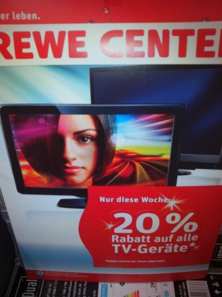 Lokal? 20% auf Fernseher im REWE Center Gießen