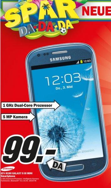 Samsung Galaxy S3 Mini für 99€ Lokal [Mediamarkt Saarbrücken]