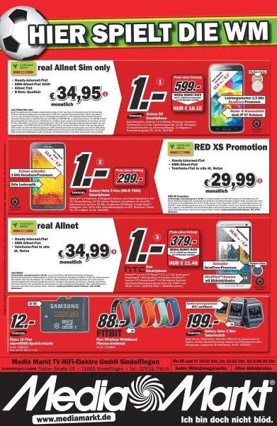 Samsung Micro SD 64 GB 25 €, 32 GB 12 € Media Markt Sindelfingen