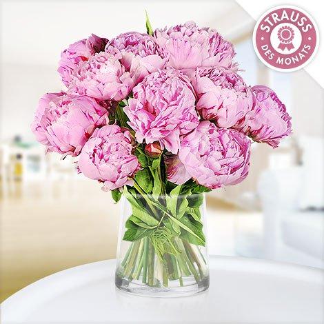 10 rosafarbene Pfingstrosen für 15€ inkl. VSK @ Blume2000