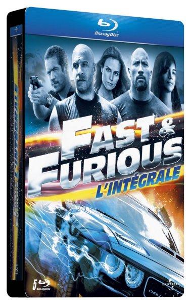Fast & Furious Collection Steelbook (Teil 1-5) (Blu-ray) für 21,35€ @Amazon.fr