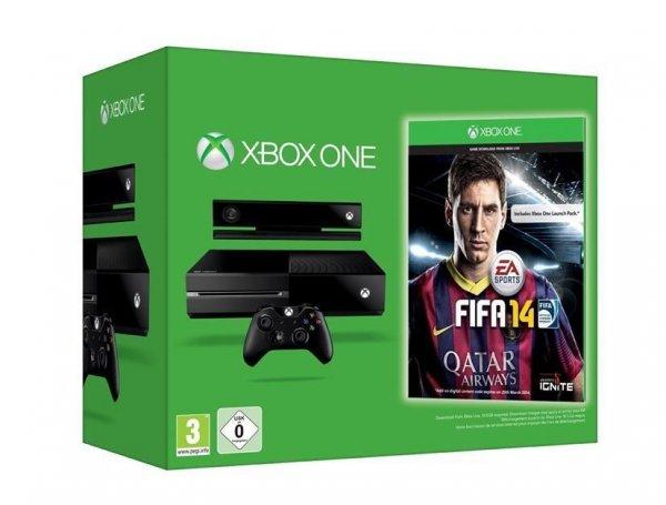 Microsoft Xbox ONE Spielekonsole mit 500 GB Festplattenspeicher und FIFA 14