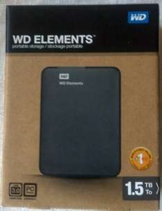 "[BERLET] WD Elements portable 2.5"" USB3.0 1500GB (WDBU6Y0015BBK)"