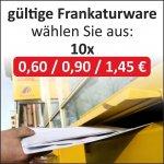 wieder da [ebay] Briefmarken 10x 0,60€ = 4,99 //  10x 0,90€ = 7,99€ // 10x 1,45€ = 12,99€