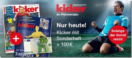 """""""Kicker"""" Jahresabo für 98€"""