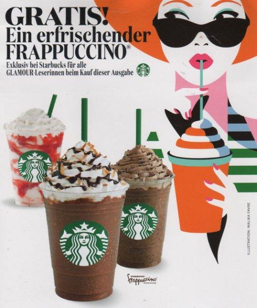 Frappuccino bei Starbucks gratis durch Kauf der aktuellen Glamour Zeitschrift (Ausgabe Juli 2014)