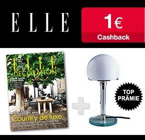 1 Jahr Elle Decoration effektiv kostenlos dank 35€ Bargeldprämie und 1€ Cashback