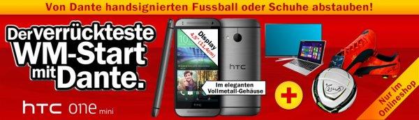 HTC One Mini2 & handsignierte Fussballschuhe oder Ball von Dante bei Media Markt