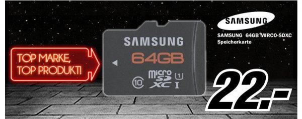 MediaMarkt Tiefpreisspätschicht mit Samsung, 32GB MicroSDHC für 11€, 64GB MicroSDXC für 22€