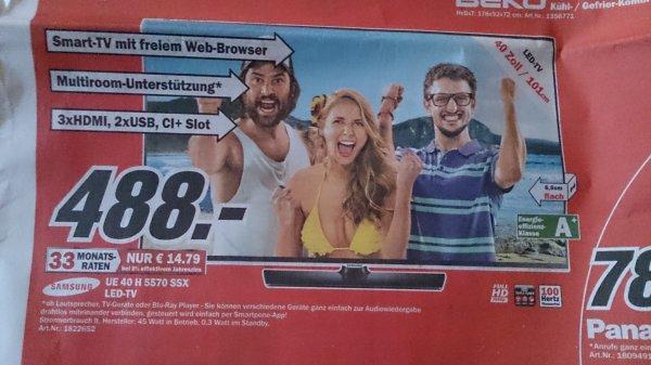 [lokal MM Friedrichshafen] Samsung UE 40 H 5570 LED-TV,  Smart-TV
