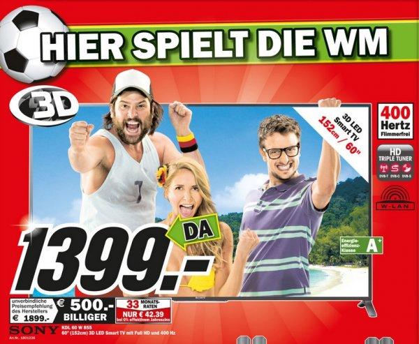 Sony KDL-60W855B für 1399€ Lokal (Mediamarkt Heppenheim,Ludwigshafen,Mannheim,Neustadt,Speyer,Viernheim,Worms)