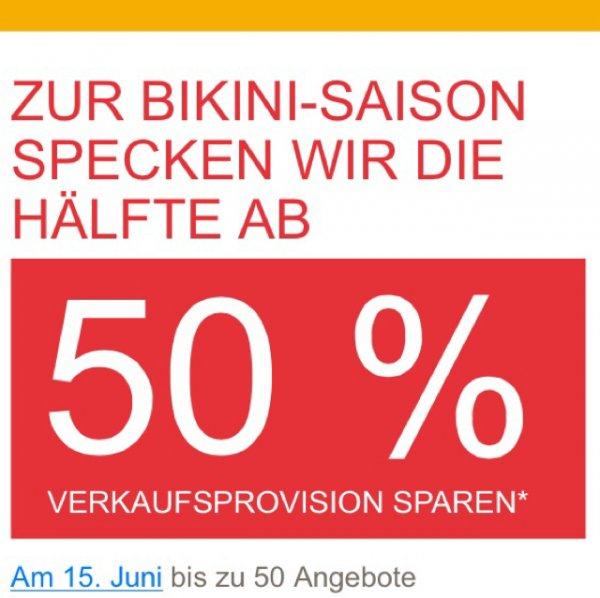 Ebay: 50% weniger Verkaufsprovision & keine Einstellgebühr zahlen - nur diesen Sonntag