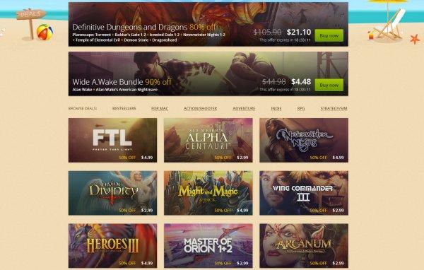 GOG.com Summer Sale - bis zu 90 %