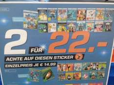 [Saturn] 2 für 22 - Doppelpack 3D oder 4K enhanced Blurays