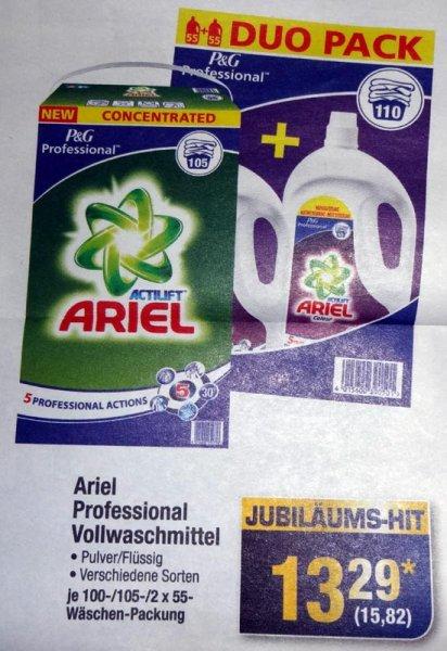 [METRO / lokal MUC] Ariel Waschmittel 100/105/110WL 15,82€ (0,14€ je WL) - ab 30.06.