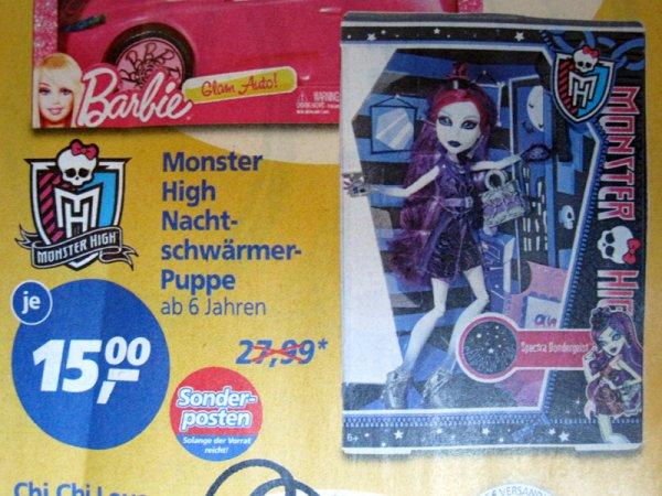 [real] Monster High Nachtschwärmer-Puppe für je 15€