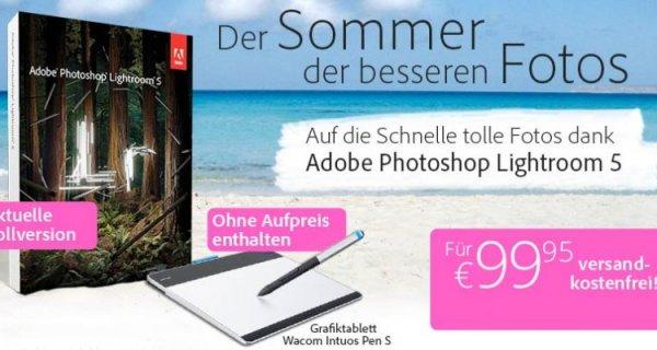 Adobe Lightroom 5 inkl. Wacom Intuos Pen S Grafiktablett