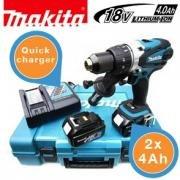 Makita 18V Akku-Kompakt-Schrauber mit zwei 4-Ah-Batterien im Koffer  308,90€ @ibood
