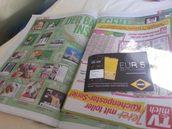 5€ bwin GS heute in Bild am Sonntag