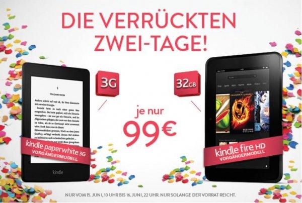 Kindle Paperwhite 3G 6 Zoll (15 cm)  [Vorgängermodell] 2012/ Kindle Fire HD-Tablet [Vorgängermodell] 32Gb