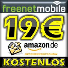 freenetMobile SIM-Karte + 19,00 Euro Amazon Gutschein