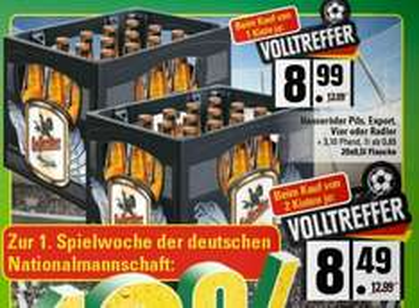 [LOKAL] Marktkauf Lübbecke (evtl. Bundesweit?) 2 Kisten Hasseröder verschiedene Sorten für je 7,64€