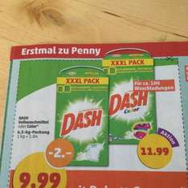[penny] Dash Vollwaschmittel oder Color
