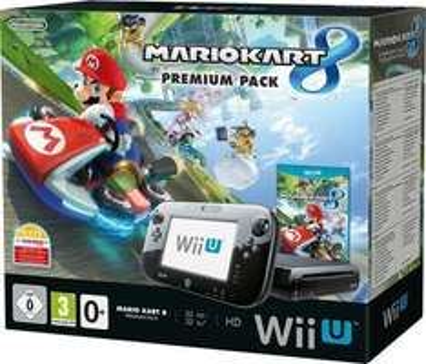 Wii U Premium Pack (Black) inkl. Mario Kart 8 + Aktions-Gutschein + 1495 PAYBACK Punkte + Qipu = ~251 €