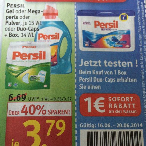 Persil Duo Caps bei Rossmann für 2,79€