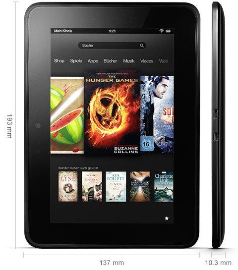 Kindle Fire HD 7 Zoll Vorgängermodell 32 GB mit 3G für 99€