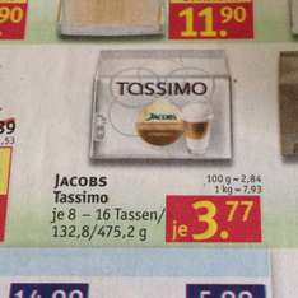 Tassimo nur 3,77 bei Rossmann