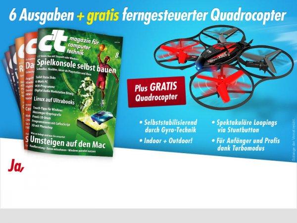 6x c't + Quadcopter für 16,50€
