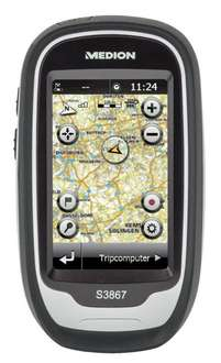 "MEDION GoPal S3867 MD 98406 Outdoor Navigationssystem 3""/7,62cm Touchscreen 8GB (B-Ware)"