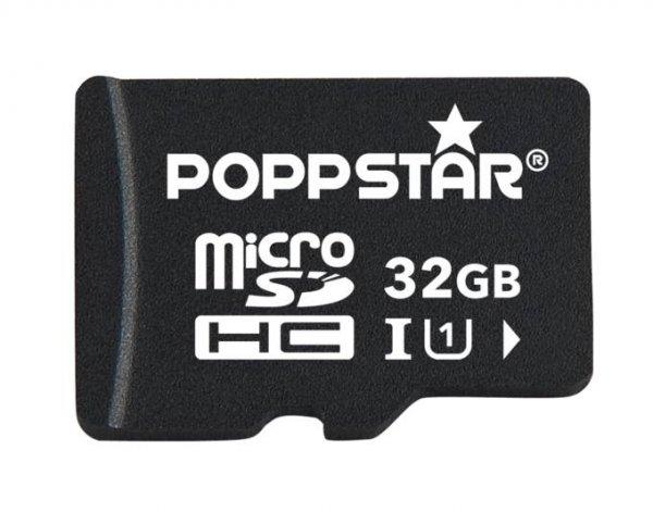 Poppstar™ - 32GB Micro-SDHC Speicherkarte (inkl.SD-Adapter,Class 10) für €12,95 [@MeinPaket.de]