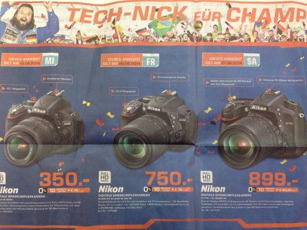 Lokal in Suttgart? Nikon D5100 + 18-55VR für 350€ Nikon D5300 + 18-105VR für 750€ und  Nikon D7100 + 18-105VR für 899