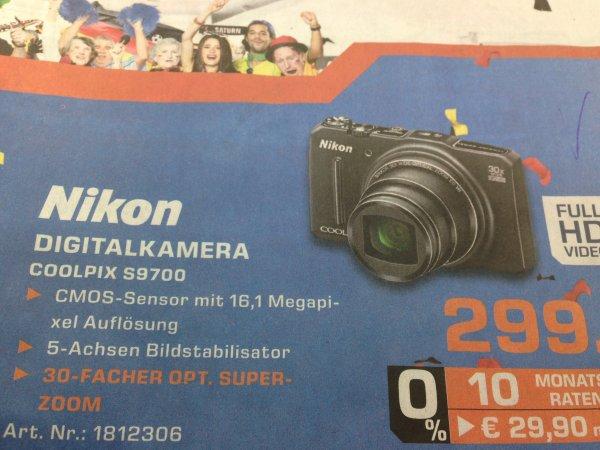 Nikon Coolpix S9700 für 299€ bei Saturn Stuttgart