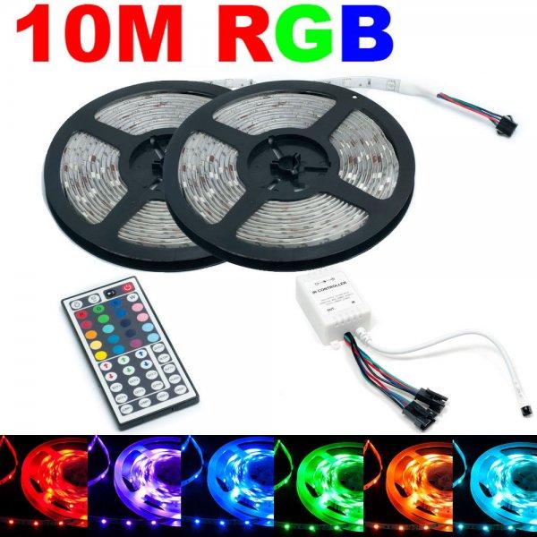 10m (2x 5M) RGB 5050 LED SMD Strip Streifen&Controller  @ebay  für 22,99€