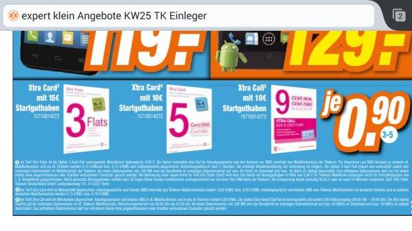 [lokal expert klein] Telekom Xtra Prepaid Karten Triple, Xtra Card, Xtra Call