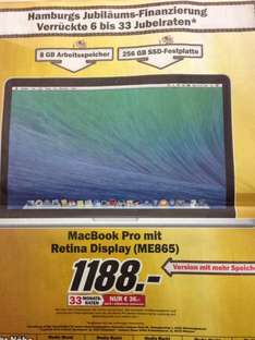 "[Hamburg] Apple MacBook Pro Retina 13"" (ME865)"