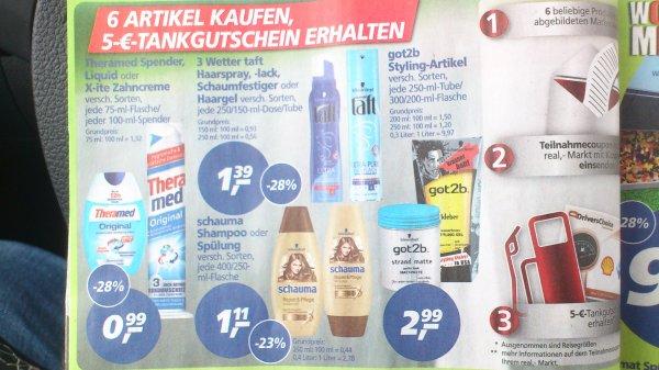*Update*(Offline) real,- ab dem 23.06. 6 Produkte kaufen, Tankgutschein über 5€ erhalten
