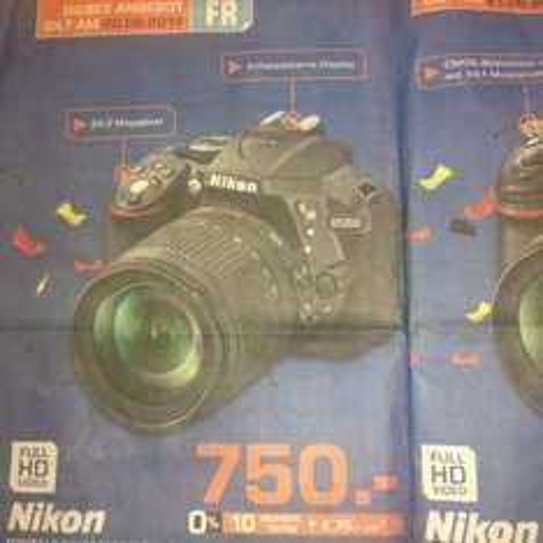 [lokal]Nikon D5300 mit 18-105 für 750€