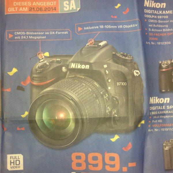 [lokal] Nikon D7100 mit 18-105mm -Saturn Stuttgart