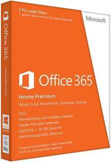 Microsoft Office 365 Home Premium (5 Codes) für 59€