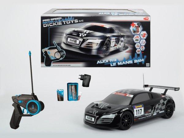Dickie Spielzeug 201119066 - RC Audi R8, 24H Nürburgring LMS, Ready to Run, 2-Kanal Funkfernsteuerung, 44 cm