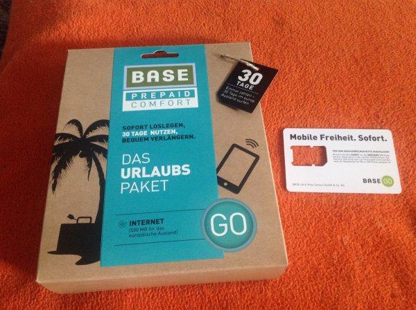 Base Go Urlaubspaket nur noch 15 Euro ! 50 GB LTE für 10 Euro Monat