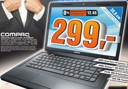 Saturn: Compaq Presario CQ57-210SG - Radeon HD 6250 - Dual Core - 2GB - 320GB - 15,6-Zoll - Win7 64Bit