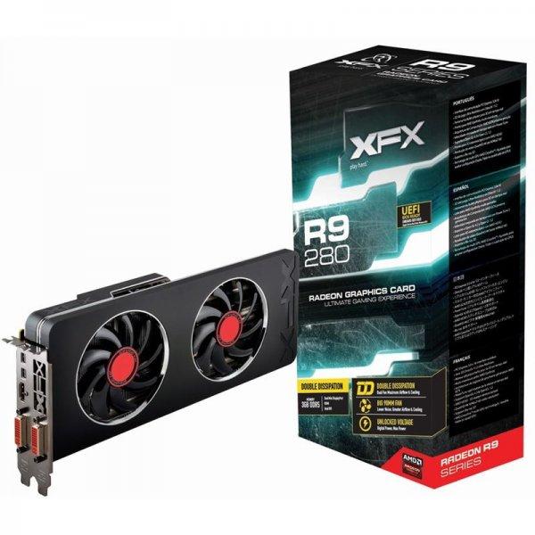 3072MB XFX Radeon R9 280 Double Dissipation Edition Aktiv PCIe 3.0 x16 (Retail)