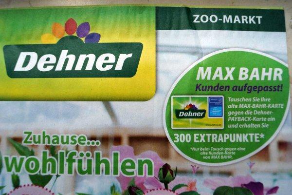 [Deutschlandweit? - Dehner Neutraubling] Tauschaktion: 300 Paybackpunkte für die alte Max Bahr Kundenkarte